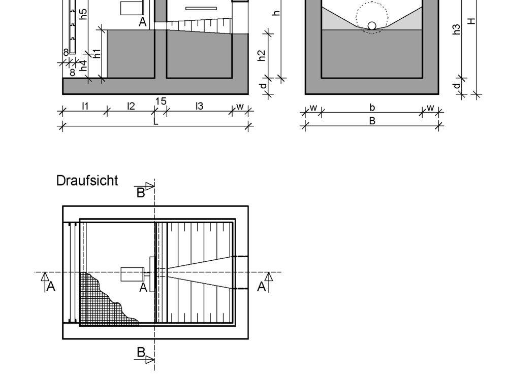 Drosselschacht offene bauweise drosselschacht tiefbau for Dachrinnen ablaufschacht beton